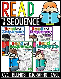 Read and Sequence (The Bundle) CVC, CVCe, Blends and Digraphs Phonics Homeschool PDF electronic file JoinBuy
