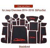 linfei rutschfeste Gummi-Torschlitzmatte Für Jeep Cherokee Kl 2014-2019 Zubehör Getränkehalter rutschfeste Matten