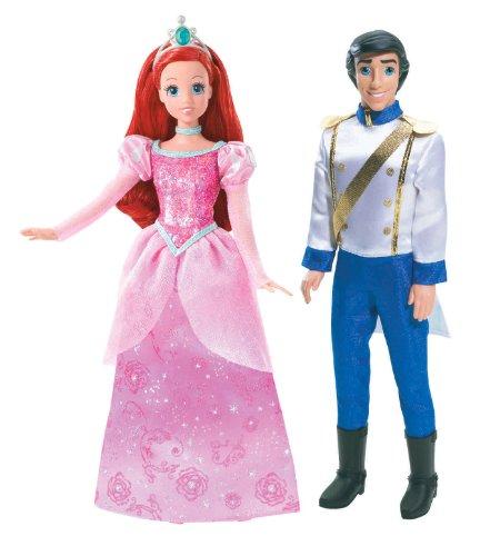 Disney Princess and Prince Ariel and Prince Eric Doll Set