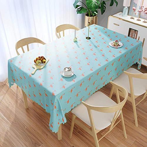 Traann Plastic tafelkleed, afwasbaar, vierkant kunststof tafelkleed, oliebescherming/vinyltafelkleed voor alle gelegenheden, doop 140*140
