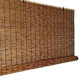 Persianas Enrollables de Bambú,Persianas de Caña Cortinas Opacas,Persianas de Paja Retro Tejidas a Mano,Estor Enrollable para Ventana,Interiores,Exteriores,Personalizables (140x202cm/55x80in)