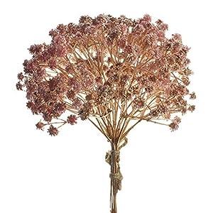 Silk Flower Arrangements Homeford Artificial Metallic Soft Baby's Breath Bundle, 10-Inch (Gold/Rose Gold)