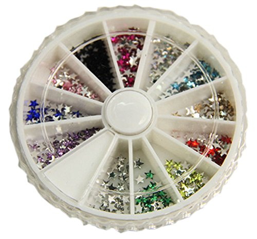 300 PCS Attactive Star Pattern For Nail Art Decoration, Multicolor