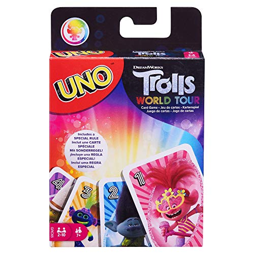 Mattel Games UNO: DreamWorks Trolls World Tour - Card Game, Multi (GRC65)