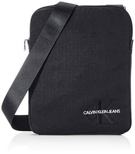 Calvin Klein Ckj Monogram Nylon Flat Pack - Borse a spalla Uomo, Nero...