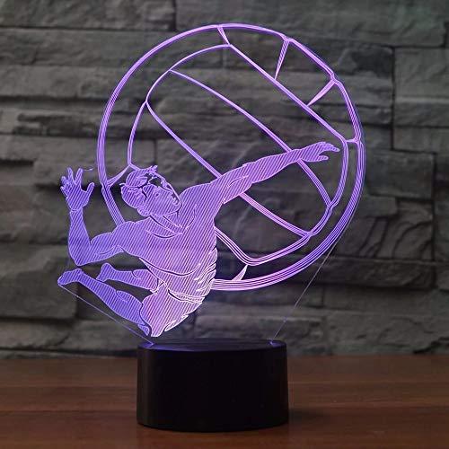 Reproductor de línea luz de noche 3D luz LED LED USB mesa atleta dormitorio habitación de los niños decoración del dormitorio luz de noche decoración de regalo de vacaciones lámpara de mesa