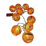 Mengmiao Luces de Cadena de Halloween Fiseta Jardín Decoración Bateria Cargada Energía Solar LED Luces de Hadas de Calabaza (Naranja, 3m(Caja de bateria))