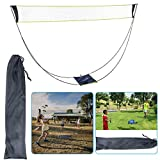 ELEWELT Portable Badminton Net Set with Stand, Folding Volleyball Tennis Badminton Net with Carry Bag, Easy Setup Beach Volleyball for Outdoor/Indoor Court Backyard