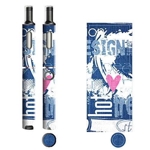 電子たばこ タバコ 煙草 喫煙具 専用スキンシール 対応機種 プルームテックプラスシール Ploom Tech Plus シール Jeans デニム モチーフコレクション 06 ペイントホワイト 21-pt08-2136