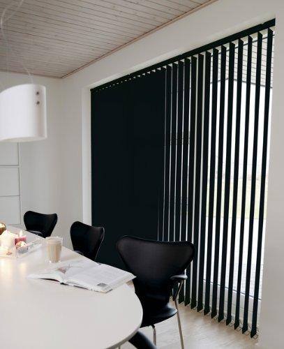 Unbekannt Lamellenvorhang/Vertikalanlage Eclipse ~ Farbe: schwarz ~ (BxH): 100x250 cm ~ Vertikaljalousie ~ Lamellenbreite: 89mm - verdunkelnd