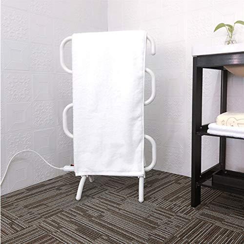 EEUK Toallero electrico Suelo, Montaje en Pared o Piso de Toallas Aluminio Inteligente de Temperatura Constant para Hotel/salón de Belleza Secador de Toallas de bañoEU Plug