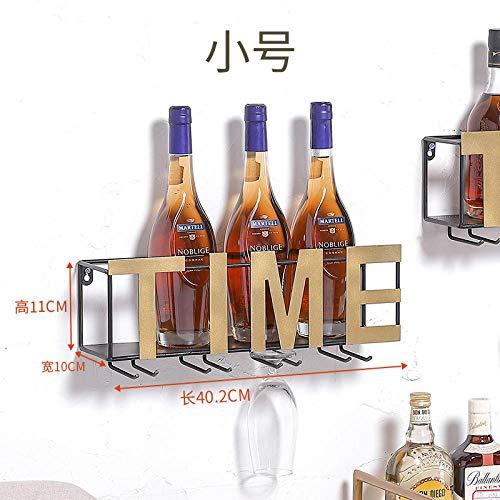 Wandbehang Weinglas Rack hängen kopfüber Haushalt Wand Eisen Wohnzimmer Moderne minimalistische kreative amerikanische Weinregal Wandbehang-Zeit-Trompete
