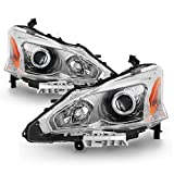 ACANII - For 2013 2014 2015 Nissan Altima Sedan Projector Headlights Headlamps 13-15 Driver + Passenger Side