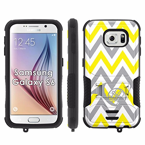 Samsung Galaxy S6 Phone Cover, Chevron French Horn- Flak Jacket Dual Armor with Kick-Stand for [Samsung Galaxy S6] with [Kickstand and Holster]