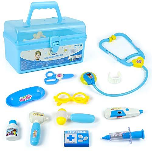 Malette Docteur Jeu de Médecin Mallette de Transport Jeu Dimitation Enfant Jouet pour Garçon et Fille (2 Types de Livraison Aléatoire)