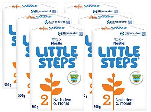Nestlé LITTLE STEPS 2 Folgemilch im Anschluss an das Stillen, nach dem 6. Monat, 6er Pack (6 x 500g)