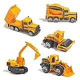 Dreamon Mini Legierung Bagger Lastwagen Autos Set Fahrzeugset Kleinkind Baustelle Spielzeug ab 3...