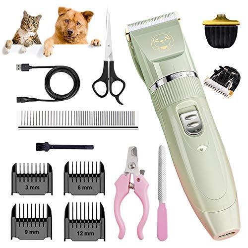Inalámbrico Cortapelos para Perros Gatos y Mascotas,Profesional Perros Gatos y Mascotas de...