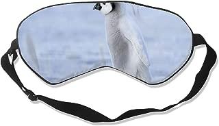 Unisex Sleeping Eye Mask Penguin Eye Mask Cover with Adjustable Strap Blindfold Eyeshade for Travel, Nap, Meditation
