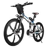 Vivi Bici Elettrica Pieghevole, Mountain Bike Elettrica Per Adulti 250W Ebike Bici Elettrica Da 26...
