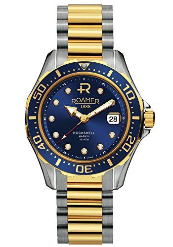 Roamer 220633 47 45 20 - Reloj analógico automático para Hombre con Correa de Acero Inoxidable, Color Plateado
