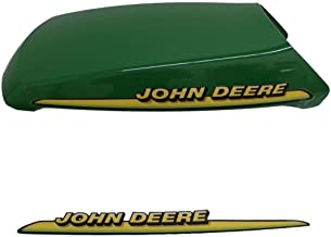 John Deere AM132530 hood with decals fits LT133, LT155, LT166, LTR155, and LTR166
