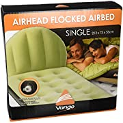 Vango, aufblasbar Single beflockte Luftbett, Unisex, Airhead Single Flocked, grün