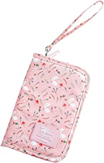 Baoblaze Titular de Pasaporte Billetera de Viaje Billetero Mujer Complimentos Titular de Pasaporte Familiar - Rosa