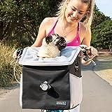 elabark 4 in 1 Dog Carrier/Dog Bike Basket with Large Side Pockets, Ride