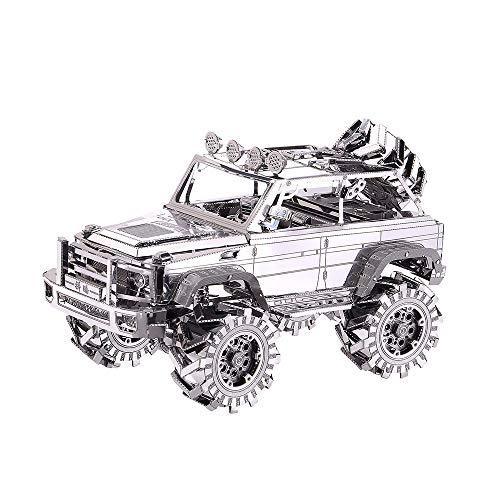 Piecool   Kit de modelos de coche en 3D de metal cortados con láser para adultos, SUV, Off Road VEHICLE 157pcs