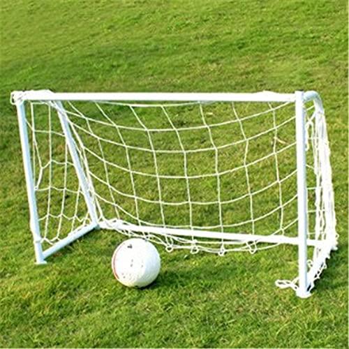 Goodvk Mini Portería de Fútbol Plegable Objetivo de fútbol de Ocio portátil Juvenil con Equipo de fútbol Neto del Campus Fácil de Cargar (Color : White, Size : 120x80cm)