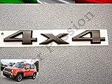 Scritta Stemma Logo 4X4 75th Anniversary Jeep Renegade Cherokee Grand Cherokee Compass Posteriore Originale Nero Ramato