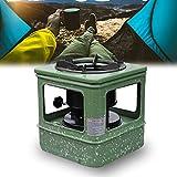 LYUQIU Mini Hornillo Camping, Estufa de Queroseno Portátil con Palanca de Control de Fuego, Estufa de Queroseno a Prueba de Viento - para Acampar, Agua Hirviendo, Cocinar y Asar a la Parrilla
