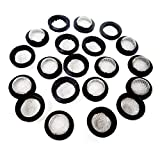 HONBAY 20PCS Stainless Steel Hose Filter Washers Hose Screen Washers for 3/4 Inch Garden Hose Connector