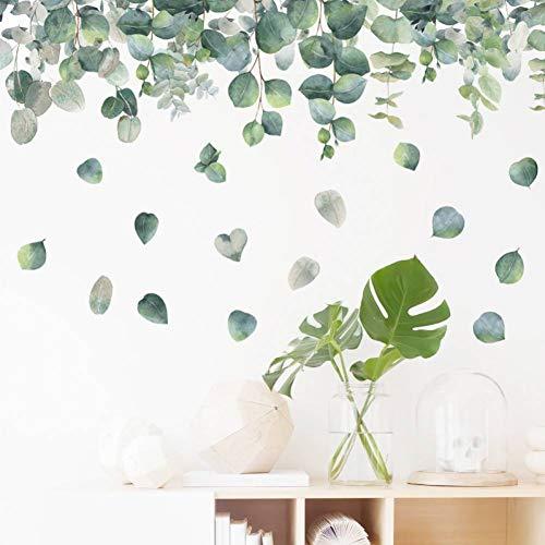 YCEOT Muursticker Diy 64 * 99 cm groene blaaf pvc muursticker decoratie plakfolie woonkamer slaapkamer wandtattoos wandafbeelding