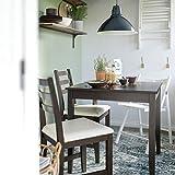 LERHAMN - Mesa y 2 sillas, color negro y marrón Vittaryd beige, 74 x 74 cm, resistente y fácil de cuidar, para comedor de hasta 2 plazas, mesas y escritorios, muebles ecológicos