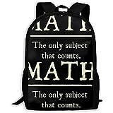 Mochila para Adultos Unisex de Alta Capacidad Matemáticas El único Tema Que...