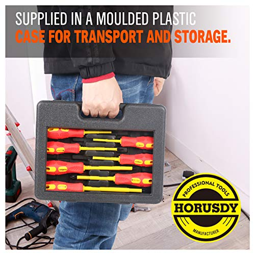 HORUSDY 8-Piece 1000v Insulated Screwdriver Set, Magnetic Tip Electrician screwdriver Set