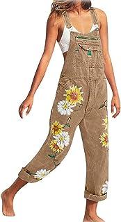 Macondoo Womens Floral Print Basic Short Spaghetti Strap Backless Adjustable Playsuit Jumpsuits