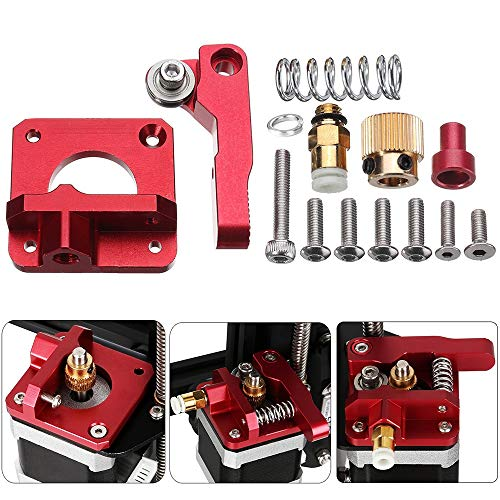 Upgrade MK8 Bowden Extruder Bausatz, Vibury Ersatz Aluminium Extruder Drive Feed für Creality Ender 3/3 Pro CR-10, CR-10S, CR-10 S4, CR-10 S5, 1.75mm Rechte Hand