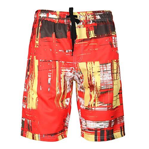 Katenyl Pantalones Cortos con Estampado Hawaiano para Hombre, Moda Suelta, Tendencia de Secado rápido, Ropa de Calle de Gran tamaño, Pantalones Cortos básicos Informales de Todo fósforo 6XL