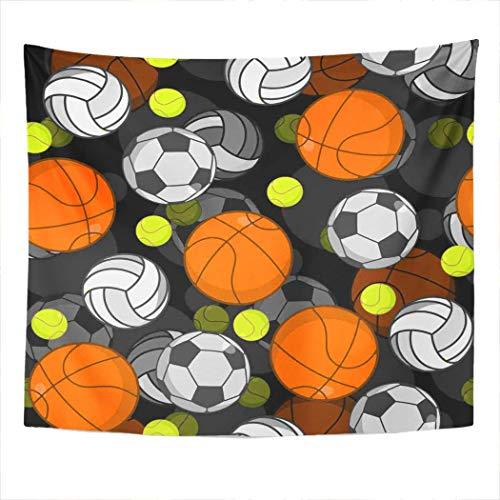N\A Tapiz Colgante de Pared Voleibol Bola imprimible Hotrod Flame Decoración del hogar Poliéster Living Dormitorio Dormitorio Picnic Mat Toalla de Playa Cubierta de Cama