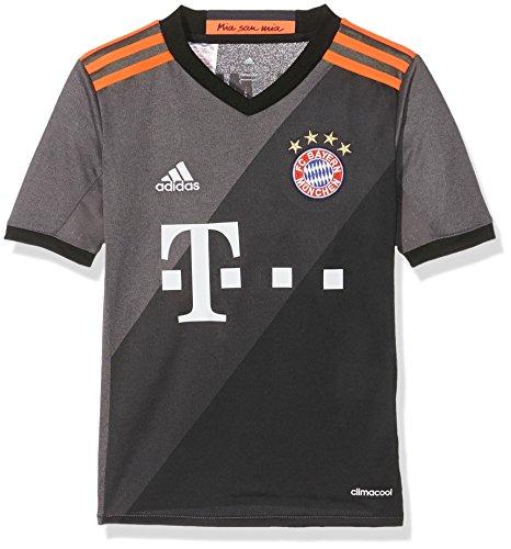 adidas Kinder FC Bayern München Auswärtstrikot Replica, Granite/DGH Solid Grey/Black, 128