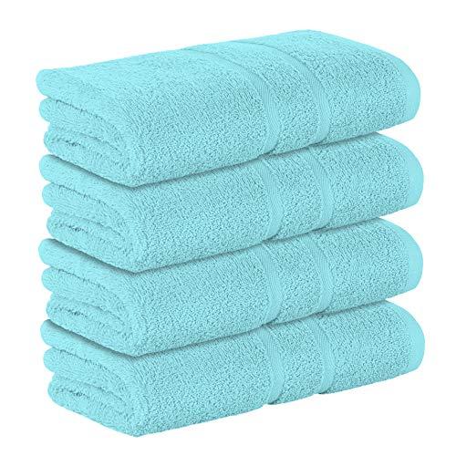 StickandShine 4er Set Premium Frottee Handtuch 50x100 cm in türkis in 500g/m² aus 100% Baumwolle Öko-TEX Standard 100 Materialien
