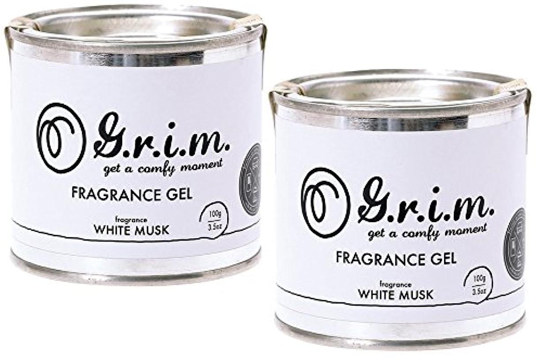 広々とした破壊的な適性【2個セット】ノルコーポレーション g.r.i.m 芳香剤 フレグランスジェル 100g ホワイトムスク OA-GRM-2-1