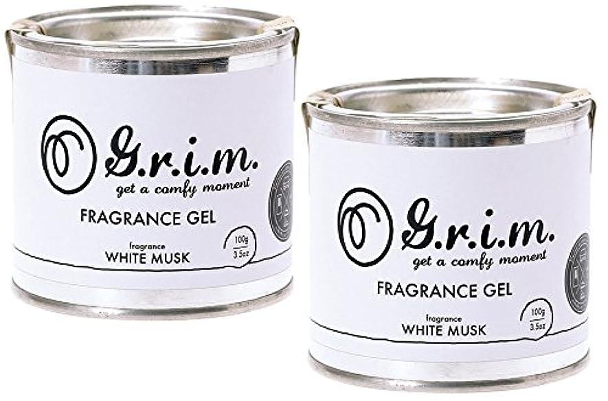 事故換気クリック【2個セット】ノルコーポレーション g.r.i.m 芳香剤 フレグランスジェル 100g ホワイトムスク OA-GRM-2-1