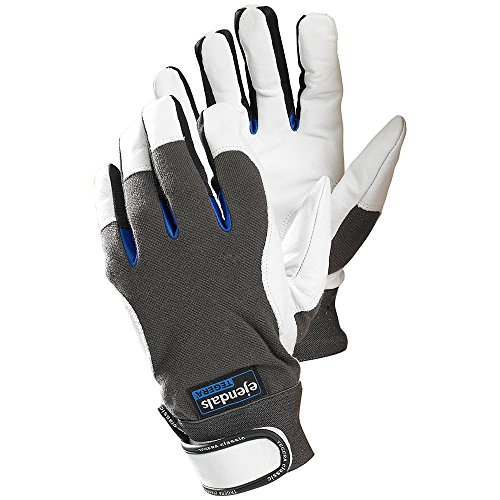 Ejendals Lederhandschuh Tegera 166, Größe 7, 1 Stück, schwarz/grau/blau/weiß, 166-7