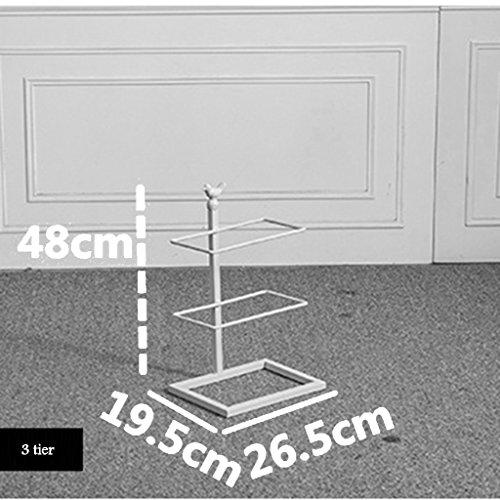 Almacenamiento De Calzado Negro Soporte De Almacenamiento De Hierro Almacenamiento De Espacio Almacenamiento De Zapatos para Balcón Entrada 2 Color 3 A 10 Niveles (Color : Blanco, Tamaño : 7 Tier)