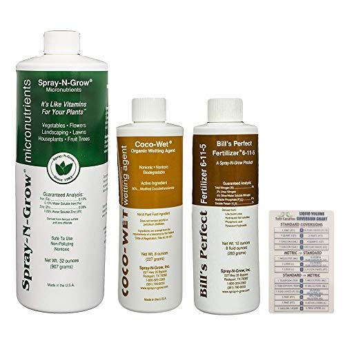 Spray-N-Grow Micronutrients 32 oz + Coco-Wet Organic Wetting Agent 8 oz + Bill