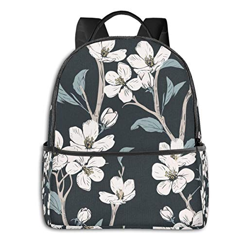 Blooming Flower High School Boys Outdoor Cycling Backpack Girls High Capacity Antitheft Backpack